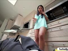 Asian petite babe Cindy ride bigcock