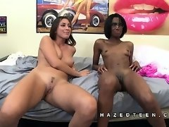 College teens show off shaved pussies