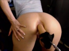 Tight ass fucking with toy on webcam