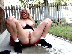 Blonde Squirt Girl