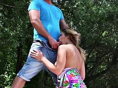 Voyeur perv fuck huge boobs babe outdoor