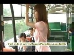 Rio Far eastern 18-19 y.o. Girl Getting Her Hirsute Twat Fondled On The Bus