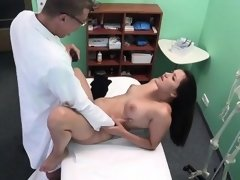 Doctor with big dick fucks cute patient