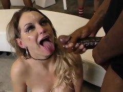 Jizz mouth slut suck bbc