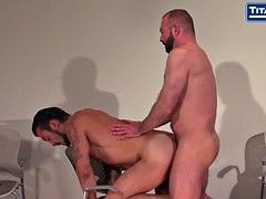 Dad cowbow bearded gets his big cock sucked