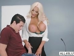 Big tits Nicolette Shea gets intense pussy fucked in different position