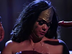 amazon wonder woman alison tyler is fucked by batman and superman