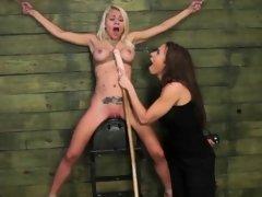 Mistress Fucks Teen in Bondage
