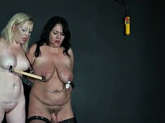 two slave lovers tight and tormented nipples