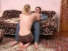 Slim russian aged dame getting down and dirty with a boy