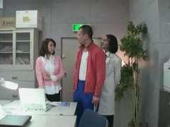 Fat Hooters Gal Teacher Wearing a Half-Top