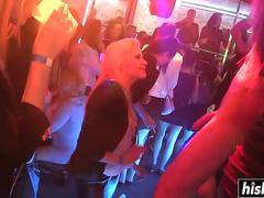 Hot babes at the club get fucked