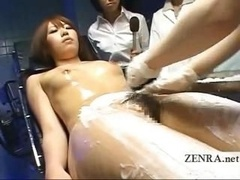 Bizarre Japanese medical exam with nude lady patient