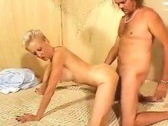 Skinny blonde mature enjoying sex Shiela from dates25com
