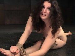 Suspended sub slut pussytoyed by dom master