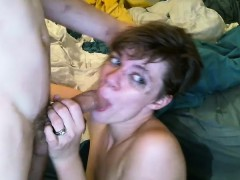 Wife face fucked and destroyed