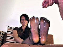 Cum On Step Mother Nylon Feet