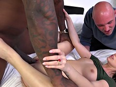 Ava Dalush Gets Fucked While Cuckold Watching
