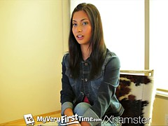MyVeryFirstTime - Nervous Jade Jantzen has her first DP