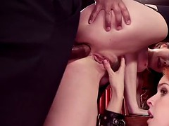 Redhead brat and busty mom anal punished
