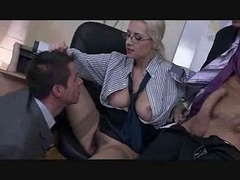 The Boss Female has a Bisexual threesome by TROC