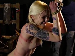 blonde girls bound and whipped