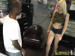 Teen gargles at gloryhole