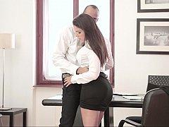 美女, フェラチオ, 茶髪の, 衣服着たままセックス, ハードコア, 淫乱熟女, オフィス, 秘密の