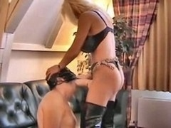 German Strap-on Mistress Face Gets down and dirty A Slave