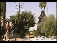 Gothic teen gets it in the school bus xvid