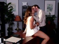 Big boobed XXX escort slut gets nailed by a bearded porn actor