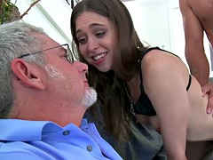 Young wife cuckolds her older husband