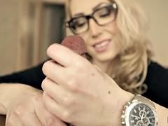 Candy may pov handjob with a big wrist watch
