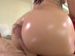 Every hole of Mischa Brooks filled with a long lubed up dick