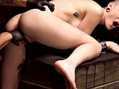 hottie gets a rough sex session