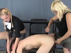 Sweeties fuck lovers asshole with big belt dicks and blast l