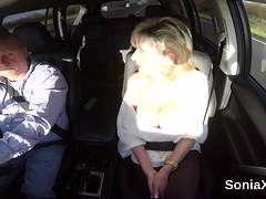 Unfaithful british mature lady sonia pops out her giant jugs