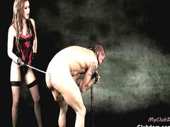 Sexy mistresses punishing their slaves