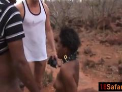 African teen forced outdoor blowjob long dongs