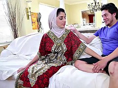Arabe, Tir de sperme, Femelle, Hard