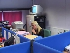 British Whore Jane Berry gets fucked in the office