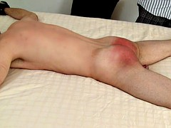 SpankeeB cums from a hard spanking