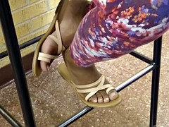 HS Friend's Candid Beautiful Ebony Feet 3