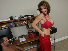 Since we are completely all alone... with big-breasted Mrs. Deauxma