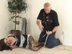 Brunette Maid Gets Hogtied And Left For Absolutely any He Wants