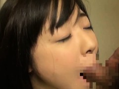 Threesome with Miku Airi giving asian girls blowjob