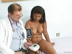 Noire, Rondelette, Médecin, Exam, Gyneco