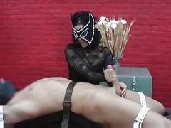 Purple rod Torture Handjob