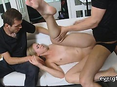 Bankrupt stud allows peculiar friend to bang his gf for hard