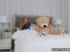 ExxxtraSmall - Cute Petite Teen Rides Teddy Till Bf gets home to fuck